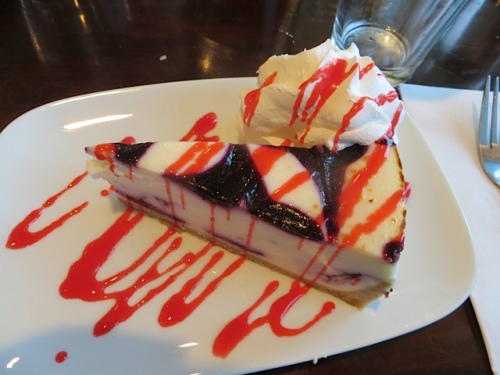 a fruity cheesecake