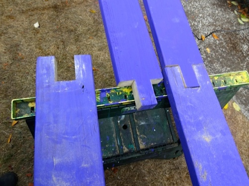 Here's a photo of the beam splicing he did on our last weekend off.
