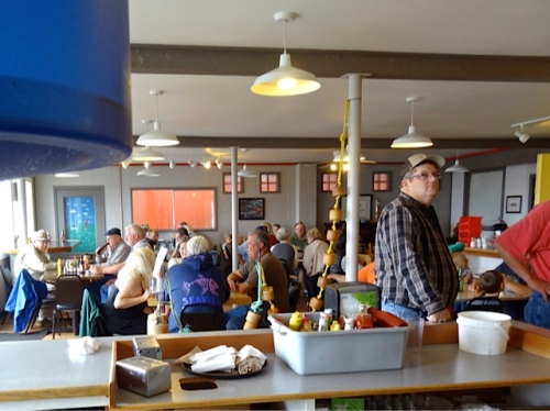 Even though the Saturday Market had been cancelled, OleBob's Café was bustling.