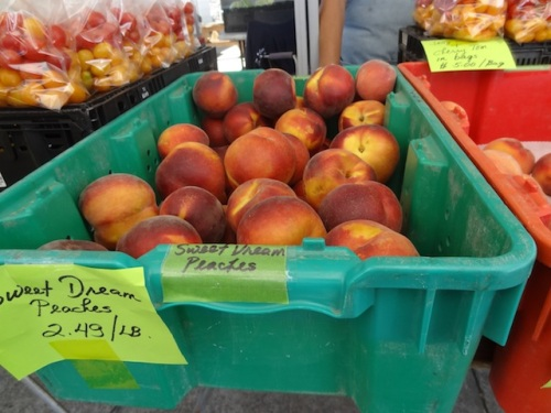 I bought peaches...