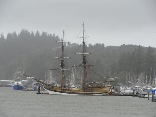 The Lady Washington was docked here, but certainly not giving rides today.