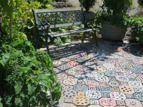 handmade paver patio