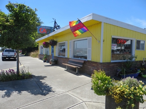 One block north on First Avenue: the appealingly cute Portside Café.