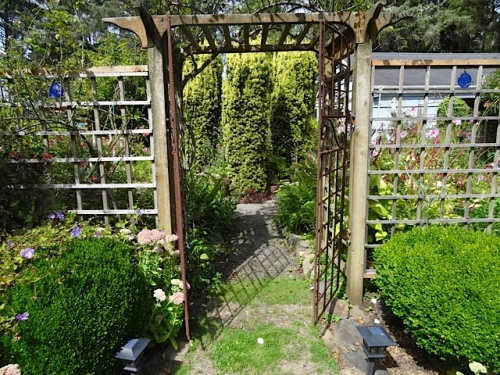 the south gate to the fenced garden