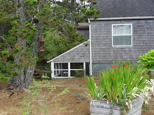 near the Osprey Café: a house with a lean to sunroom