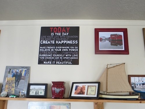 sweet, with a framed photo (far left) that I took of Debbie and Lauri.
