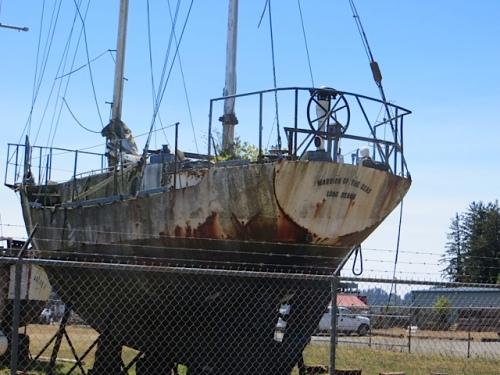boat storage yard, former Warrior of the Seas