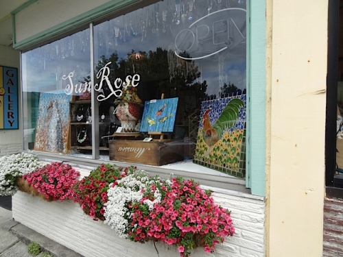 mosaics and window boxes