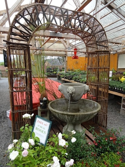 I do love this arbor that is often set up in the covered display area.