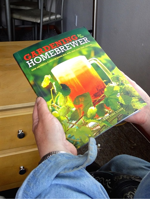 Debbie gave us her new book, Gardening for the Home Brewer!
