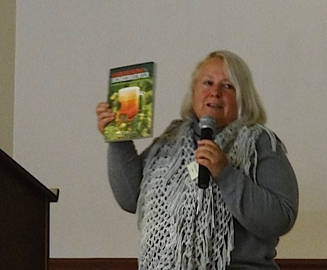 Debbie's new book, Gardening for the Home Brewer (Allan's photo)