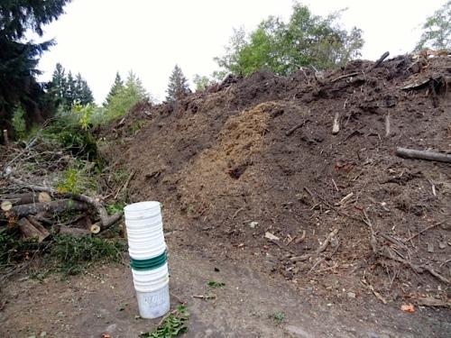 The debris gets ground up into mulch.