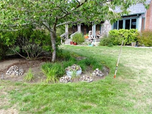 rock edge piled for weeding (Allan's photo)