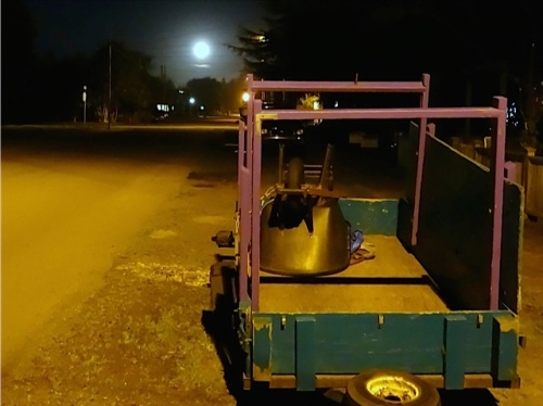 Allan's photo: moon over the work trailer!