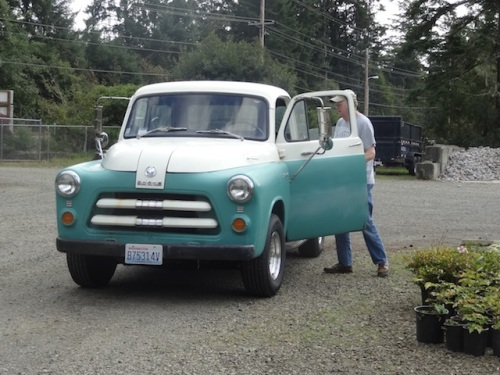 Another customer had a cute old truck.