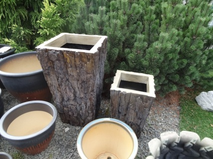 new planters that look like bark