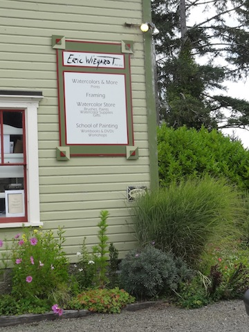 the familiar sign of the Wiegardt Gallery