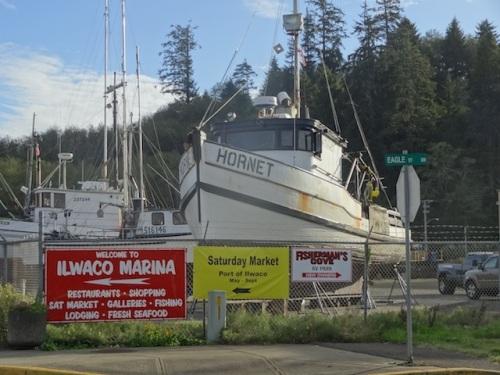 northeast corner of the boatyard
