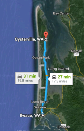 Ilwaco to Oysterville