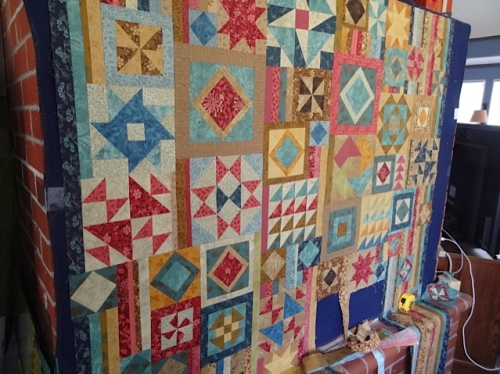 "Jo's current quilt project is a complex pattern called ""Gypsy Wife."""