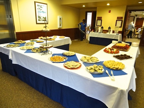 The treats were all laid out by the Tolovana Inn conference room.