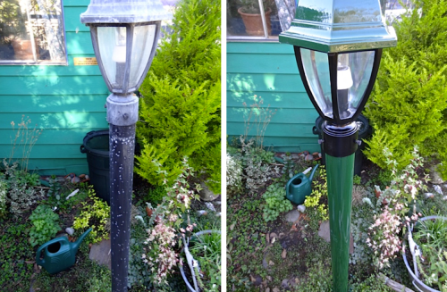 outdoor lamp, before and after