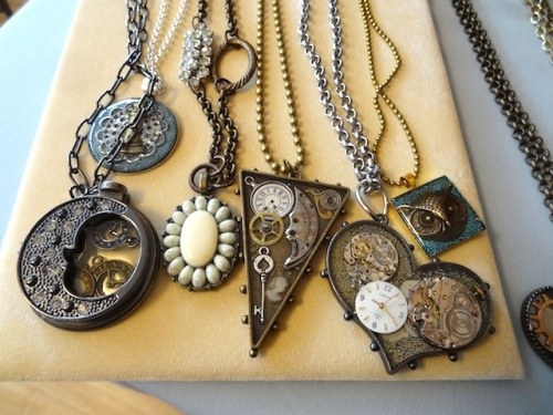 Debbie's steampunk-inspired jewelry