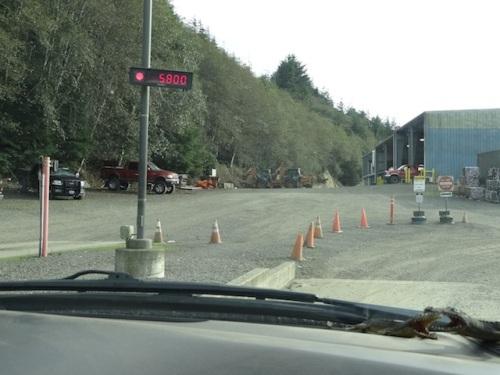next, a big debris dump at Peninsula Sanitation transfer station's clean green pile