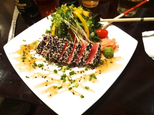 I had a great craving for the ahi tuna.