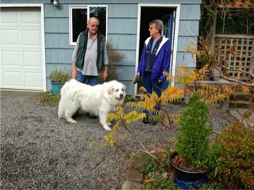 Denny, Mary, and Bella (Allan's photo)