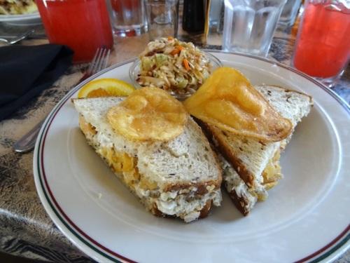 I had the tuna sandwich, Garden Tour Nancy's favourite.