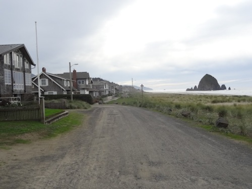 to the south, Haystack Rock