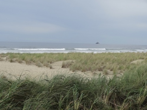 in the distance, the Tillamook Lighthouse
