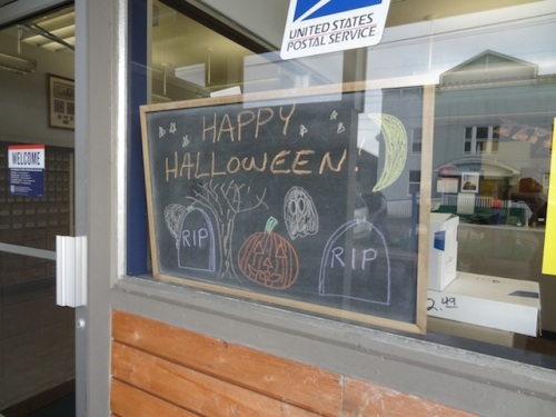in the post office window today