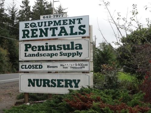 Peninsula Landscape Supply autumn hours
