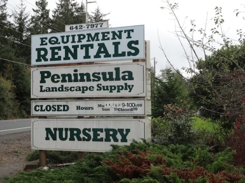 Peninsula Landscape Supply autumn hours