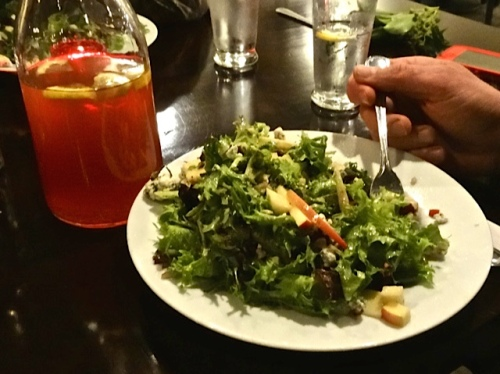 delicious apple blue cheese salad and apple cider