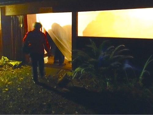 Allan's photo: entering the pavilion