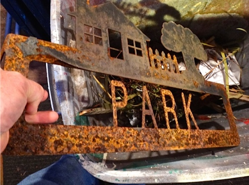 It was rusting away.