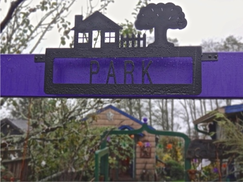 """He thinks maybe the word """"Park"""" needs to be painted a contrasting colour."""