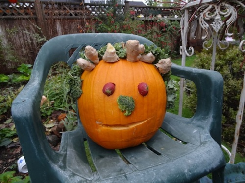 Steve had also made this fabulous garden pumpkin.