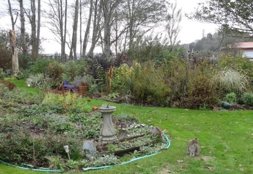 back garden, looking southwest