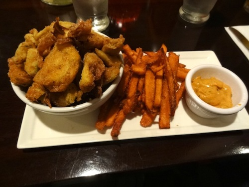 Wednesday has the delicious fried artichoke and sweet pototo fries appetizer.