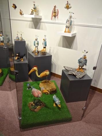 whimsical bird sculptures