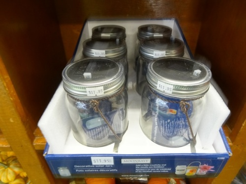 We are going to try out one of these solar jars.