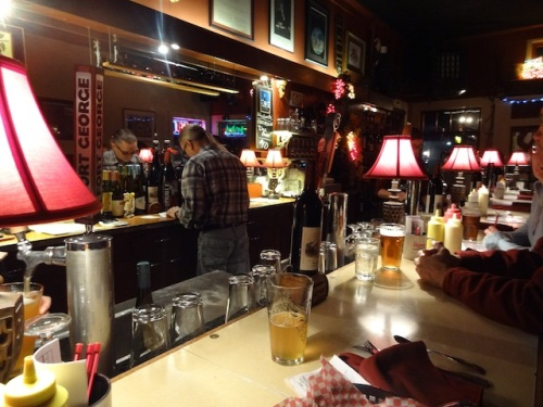 The bar stools at the Depot are unusually comfortable and provide an interesting view of the bustling about of the staff.