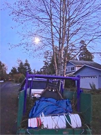 Allan's photo: moonrise over the trailer