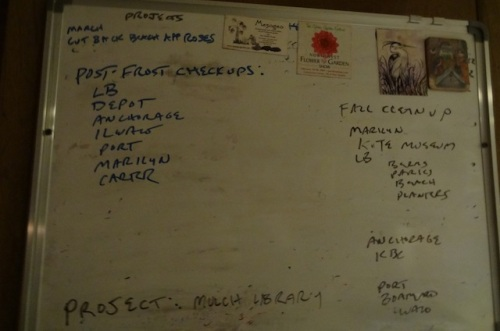 the rapidly thinning work board!