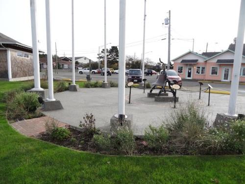 flag pavilion garden, before