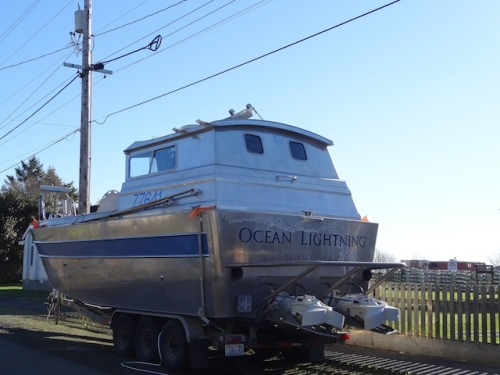 Just down the street, the Ocean Lightning is parked where a boat called the Ocean Thunder used to sit.